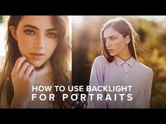 Master Natural Backlight to Improve your Portrait Photography - YouTube