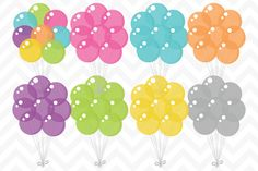 Clip Art Vector Party Balloons by SonyaDeHart on Creative Market