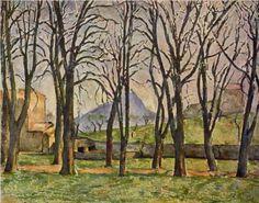 Chestnut Trees at the Jas de Bouffan - Paul Cezanne