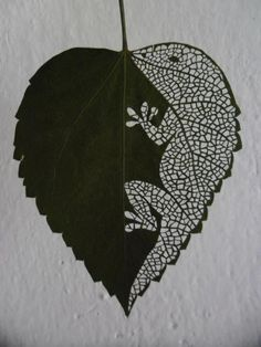 Leaf art so cool