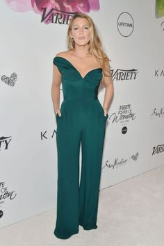 Blake Lively wears Brandon Maxwell jumpsuit at the Variety's Power of Women event held in New York City (April Blake Lively Moda, Blake Lively Style, Hollywood Fashion, Hollywood Style, Celebrity Red Carpet, Celebrity Style, New York Photos, Red Carpet Gowns, Celebs