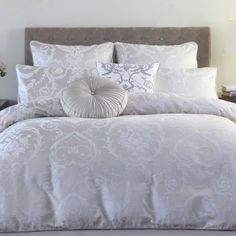 Logan & Mason Platinum Ella Quilt Cover Set White | Spotlight New ... : quilt cover sets spotlight - Adamdwight.com