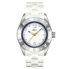 fc9f2933f Women's Wrist Watches - Lacoste Biarritz ThreeHand Silver and White  Silicone Womens watch 2000751 * Check. Dámske DoplnkyHodinky Rolex