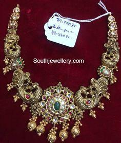 Antique Gold Peacock Haram
