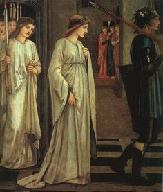 Edward Burne-Jones, Princess Sabra led to the Dragon, 1866
