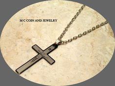 "Silver Fashion & Cross Pendant Silver Plated Chain Necklace 22"" #Pastel #Pendant"