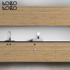 Imitación madera para el frente de tu cocina. Redecoración de muebles con vinilo adhesivo. #lokolokodecora Credenza, Ideas Para, Buffet, Cabinet, Storage, Inspire, Inspiration, Furniture, Home Decor