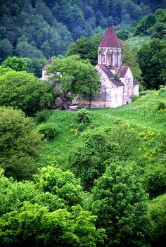 Armenia- Prowincja Tavush -Klasztor Hagharstin, to stare drzewo jest piękne i przedziwne .