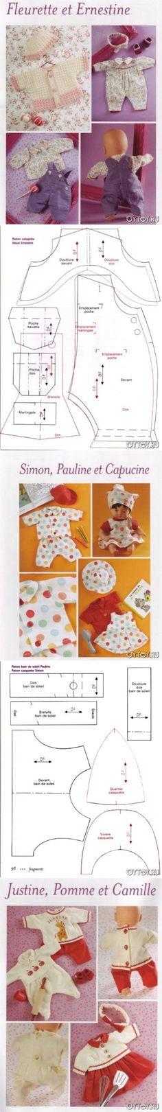 Es ropa interesantes PERRITOS-bebés (patrón)
