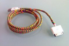 "Prevent those ""who's nicked my iPhone charger?!"" rows once and for all by customising your leads with coloured threads. It stops them tangling, too! (source)  -Cosmopolitan.co.uk"