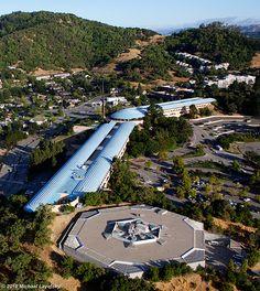 Marin County Civic Center / North San Pedro Road at US 101, San Rafael / 1960-1976 / Modern / Frank Lloyd Wright