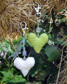 Halager: Hæklede hjerter og perler.. og jul