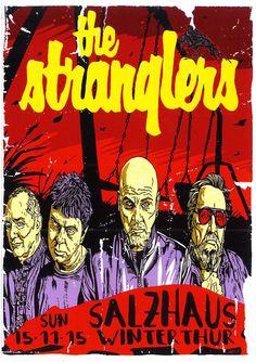 THE STRANGLERS - LIVE IN SWITZERLAND 2015 - FLYER - SALZHAUS WINTERTHUR