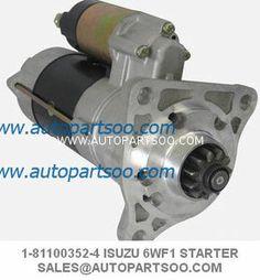 1-81100352-4 1-81100-352 - ISUZU CYZ 51K  CXZ 81 Starters 6WF1 10PE1 24V 11T 7.1W  V=24 kW=7.1 T=11 OSGR CW Product name: ISUZU CYZ 51K  CXZ 81 Starters  for 6WF1 10PE1 Manufacturer  ISUZU Manufacturer part #  1-81100352-4 Automobile manufacturers Genuine product - 1811003524  Output 24V/7.1KW Starter Motor, Automobile