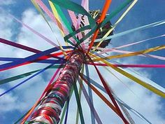 Happy May Day (May 1st) with a romp around the Maypole.