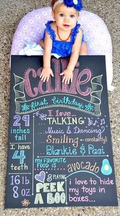 DIY Birthday Chalkboard Tutorial. Use foam board and metallic sharpies for a more perfect - yet chalk like look. Looks like chalk board but won't get smudged. Super cute!