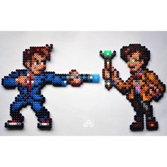 "Tennant and Smith from ""Doctor Who"" perler beads by s.limpickings"