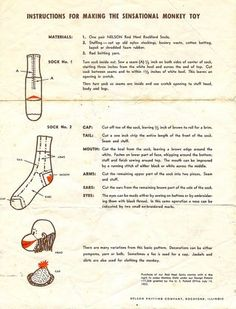 make your own sock monkey!