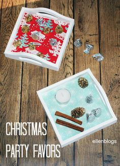 Christmas party favors - fun and easy to make