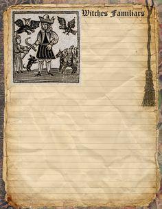 Witchcraft Animals page by Grim, scrapbook, art journal, Book of Shadows