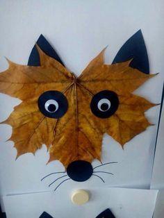 Herbstdeko - decoration - decoration - for teens - dekoration Fox Crafts, Leaf Crafts, Nature Crafts, Animal Crafts, Arts And Crafts, Dinosaur Crafts, Fall Crafts For Toddlers, Easy Fall Crafts, Projects For Kids