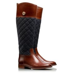 Quilted riding boots by Tory Burch | style ❤ liked on Polyvore featuring shoes, boots, quilted boots, tory burch, tory burch shoes, tory burch footwear and equestrian boots