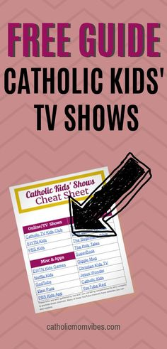 The best shows for Catholic kids to watch all on one free cheat sheet! Catholic Tv, The Good Catholic, Catholic Blogs, Christian Kids, Kids Tv Shows, Pbs Kids, Camping Gifts, Tv Shows Online, Cheat Sheets