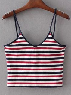 Top à bretelle motif rayures - multicolore-French SheIn(Sheinside)Site Mobile