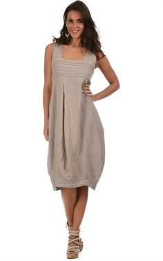 buyinvite.com.au - Linen Sleeveless Dress Willow Taupe - buyinvite.com.au