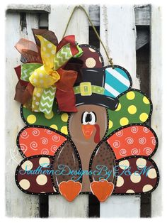 A personal favorite from my Etsy shop https://www.etsy.com/listing/250240795/funky-turkey-wooden-door-hanger-fall