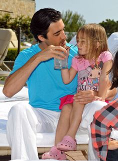 Gilles Marini and his daughter