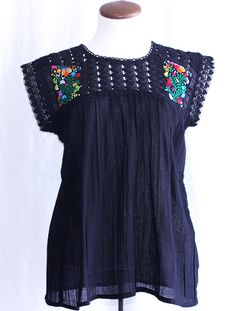 Mexican Embroidered Blouse. View more at: www.elinterior.com