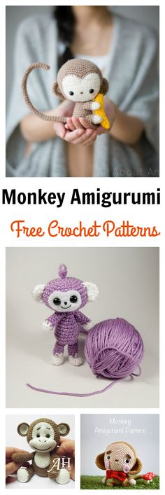 Free Monkey Amigurumi Crochet Patterns.