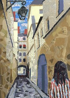 Passage (Ruelle) Torn paper collage 29.5 x 42.0 cm