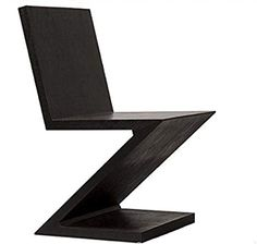 the zig zag chair Gerrit Rietveld 1934 Classic Furniture, Modern Furniture, Furniture Design, Furniture Chairs, Bauhaus, Cool Chairs, Mid Century Furniture, Minimalist Art, Modern Chairs