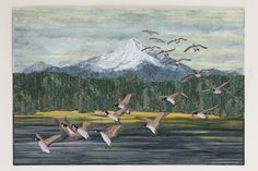 The Landing art quilt by Joanne Baeth