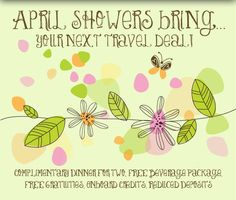 April Showers Bring...Your Next Travel Deal!