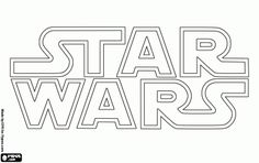 Star Wars logo coloring page