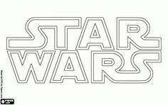 Star Wars logo coloring page