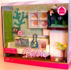 Barbie Doll Couch Table Linving Room Playset Collectible Doll | eBay