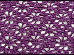 Crochet : Punto Esponjoso y Salomon Recto. Parte 1 de 2 - YouTube