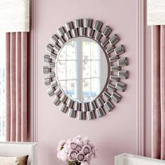 Shop a great selection of Glam Beveled Accent Mirror Willa Arlo Interiors. Find new offer and Similar products for Glam Beveled Accent Mirror Willa Arlo Interiors. Round Wall Mirror, Round Mirrors, Wall Mirrors, Wall Décor, Console Table, Mirrors For Sale, Old Wall, Decor Pillows, Diy
