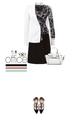 Office outfit: Black - White - Floral by downtownblues on Polyvore