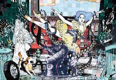 The New York City Ballet collaborates with urban street artists FAILE in the first of the New York City Ballet Art Series. Ballet Posters, City Ballet, Ballet Art, Collage Artwork, Collages, Art Series, First Art, Street Artists, Oeuvre D'art