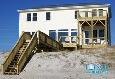 Topsail Realty Inc. Vacation Rental Property | SALTY PAWS | Oceanfront | 4BR, 4BA, Max Occ 8