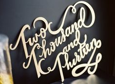 Gold Wedding Sign Laser Cut | OneWed.com