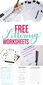 Learn hand lettering with these 6 free resources for lettering worksheets!