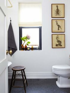 I am also into the black penny rounds depending on where we go with the design of one of the bathrooms