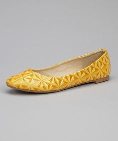 Take a look at this Yellow Magda Ballet Flat by Skyler on #zulily today!