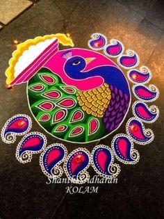 15 Best Rangoli Designs Ideas photos by bondita | HappyShappy Rangoli Designs Peacock, Best Rangoli Design, Indian Rangoli Designs, Rangoli Designs Latest, Simple Rangoli Designs Images, Rangoli Patterns, Free Hand Rangoli Design, Small Rangoli Design, Rangoli Border Designs